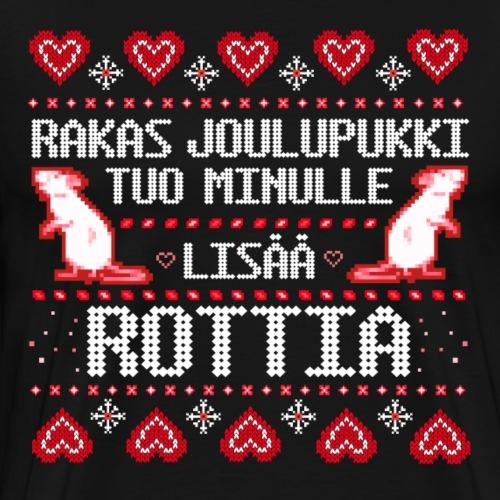 Joulupukki rottia - Miesten premium t-paita