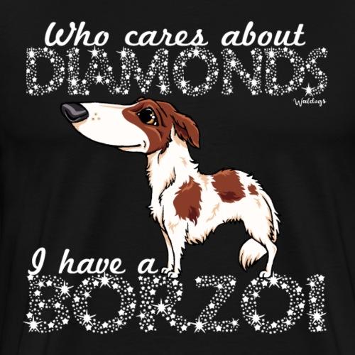 borzoidiamonds2 - Men's Premium T-Shirt