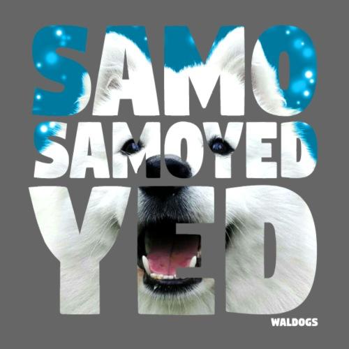 NASSU Samoyed Blue - Miesten premium t-paita