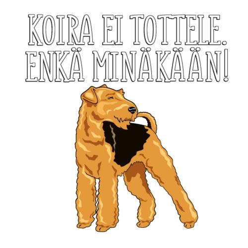 Airedale Tottele - Miesten premium t-paita