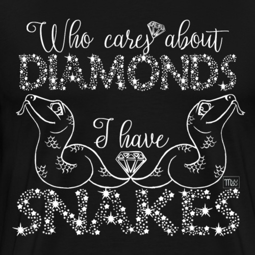 Diamond Snakes - Miesten premium t-paita