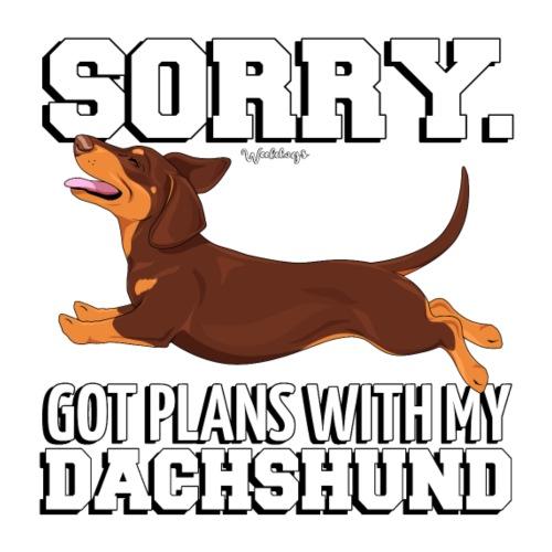 Dachshund SH Plans 8 - Miesten premium t-paita
