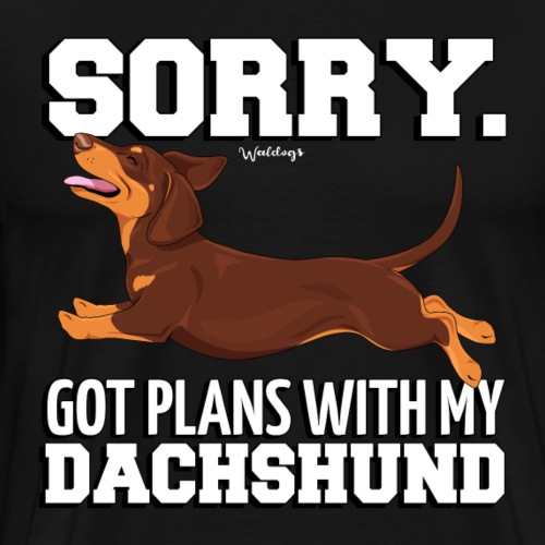Dachshund SH Plans 8 - Men's Premium T-Shirt