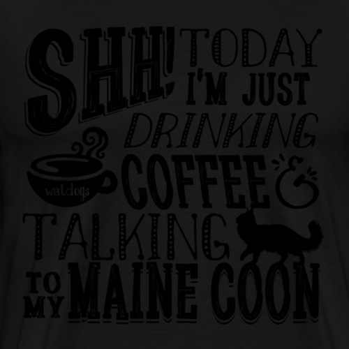 SHH Maine Coon Coffee - Miesten premium t-paita