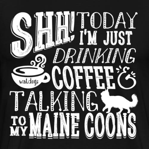 SHH Maine Coon Coffee3 - Miesten premium t-paita