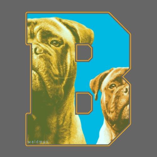 Bullmastiff Retro B I - Miesten premium t-paita