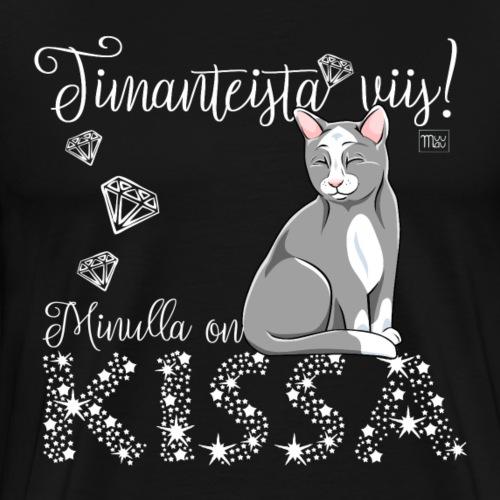 Timantti Kissa III - Miesten premium t-paita