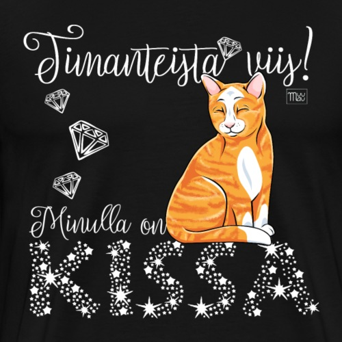 Timantti Kissa II - Miesten premium t-paita