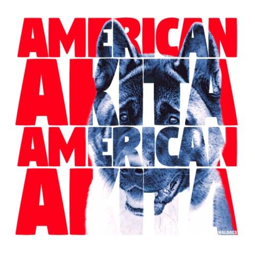 American Akita R - Miesten premium t-paita