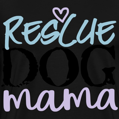rescuedogmamacolor - Men's Premium T-Shirt