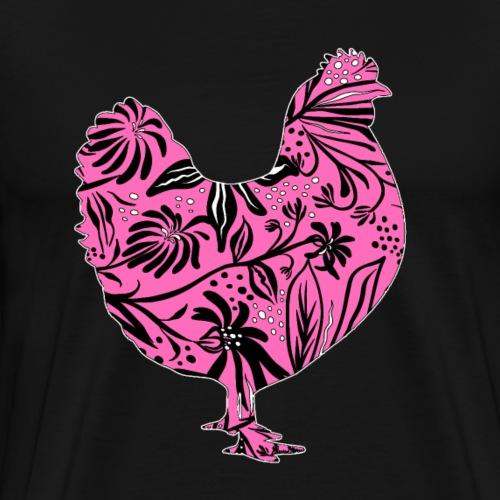 Flower Chicken IV - Miesten premium t-paita