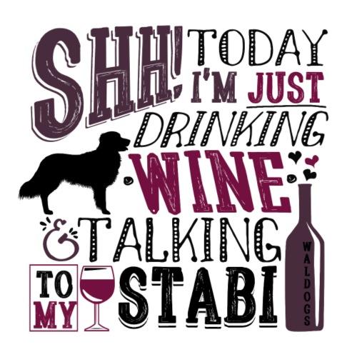 Stabijhoun Wine - Miesten premium t-paita