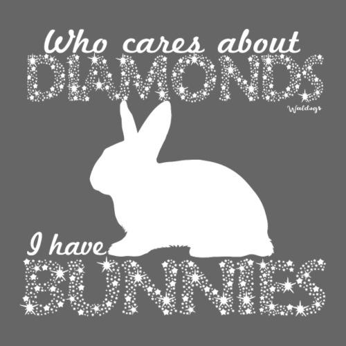 Bunny Diamonds - Miesten premium t-paita