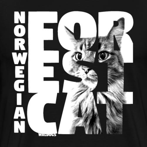 NASSU Forest Cat 2 - Miesten premium t-paita