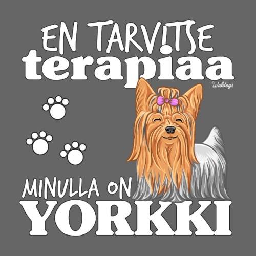 Yorkkiterapiaa - Miesten premium t-paita