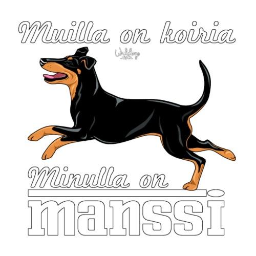 Manssi Koiria - Miesten premium t-paita