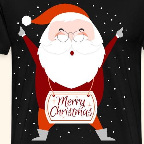 Lustiger Weinachtsmann Frohe Weihnachten - Männer Premium T-Shirt
