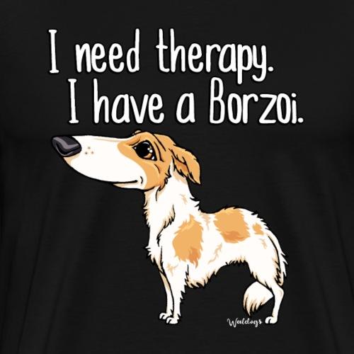 borzoitherapy14 - Men's Premium T-Shirt