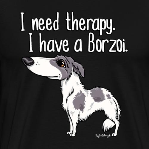 borzoitherapy13 - Men's Premium T-Shirt