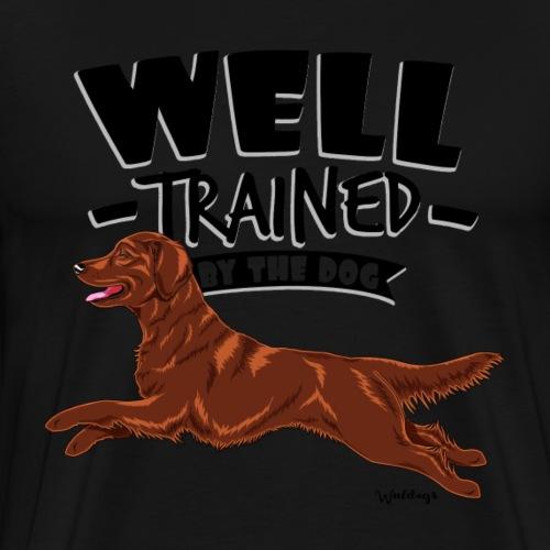 Flattie Well Trained2 - Men's Premium T-Shirt