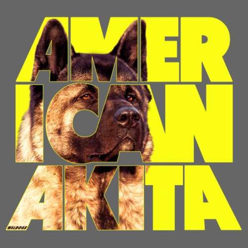 American Akita III - Miesten premium t-paita