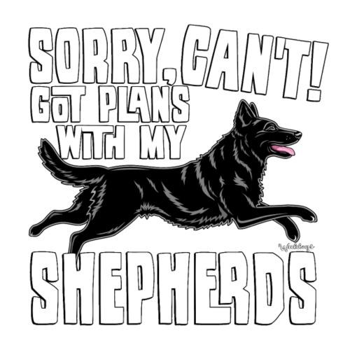 GSD Shepherd Plans 3 - Miesten premium t-paita
