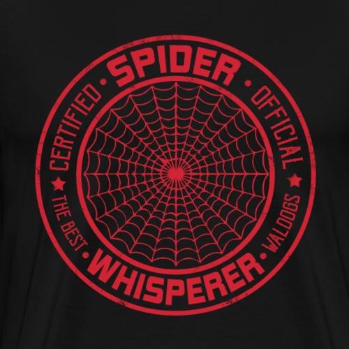Spider Whisperer Red - Miesten premium t-paita