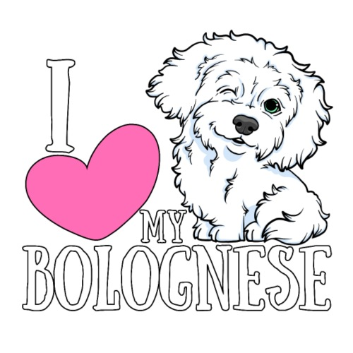 I heart my Bolognese - Miesten premium t-paita