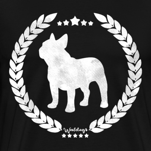French Bulldog Army Silver - Men's Premium T-Shirt