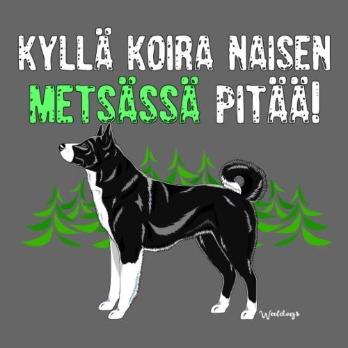 Karhukoira Naisen Metsä2 - Miesten premium t-paita