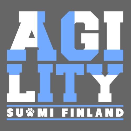 Agility Suomi Lippu - Miesten premium t-paita