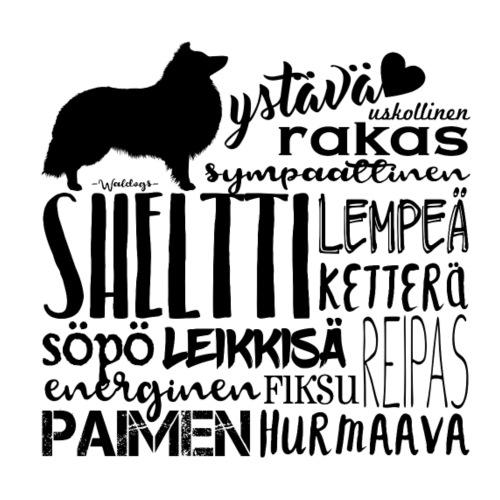 sanatsheltti2 - Miesten premium t-paita