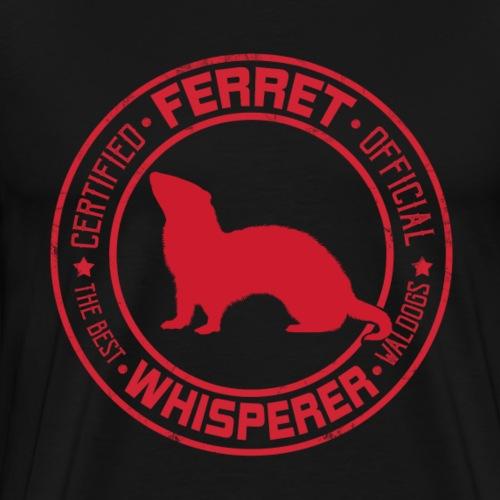 Ferret Whisperer Red - Miesten premium t-paita