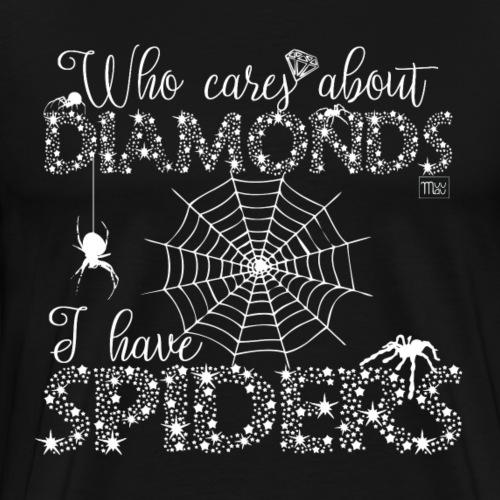 Spider Diamonds - Miesten premium t-paita