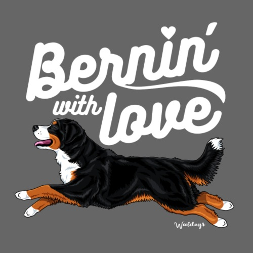 Bernese Burnin Love - Miesten premium t-paita