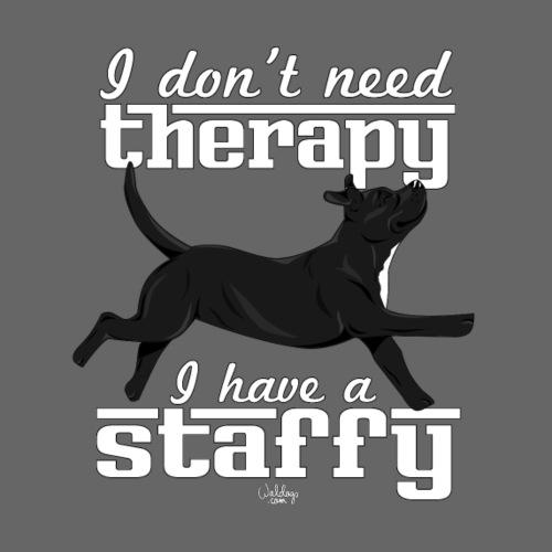 staffytherapy2 - Miesten premium t-paita