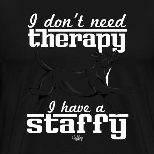 staffytherapy2 - Men's Premium T-Shirt
