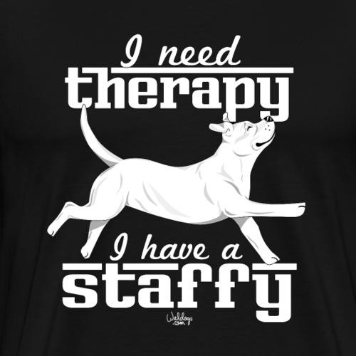staffytherapy8 - Men's Premium T-Shirt