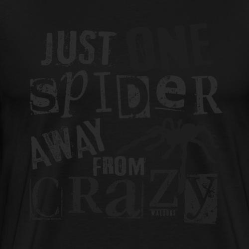 One Spider Away III - Miesten premium t-paita