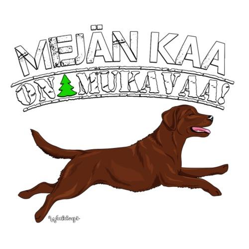 Labradori Mejä Mukavaa - Miesten premium t-paita