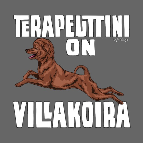 Villakoira Terapeutti - Miesten premium t-paita