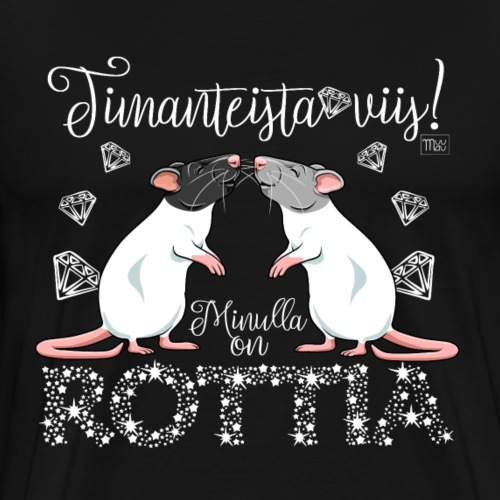 Dimangi Rottia I - Miesten premium t-paita