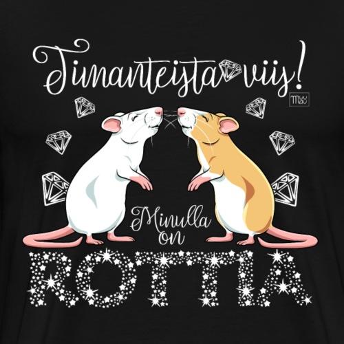 Dimangi Rottia II - Miesten premium t-paita