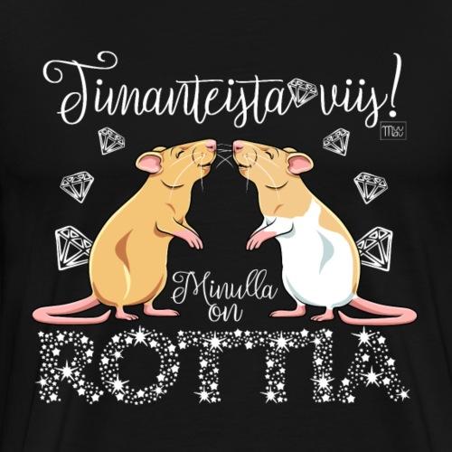 Dimangi Rottia IV - Miesten premium t-paita
