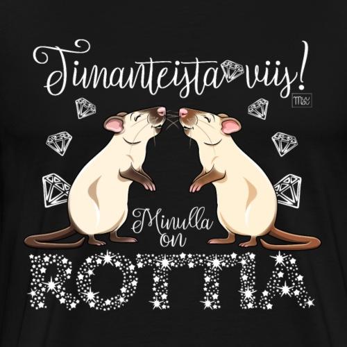Dimangi Rottia V - Miesten premium t-paita