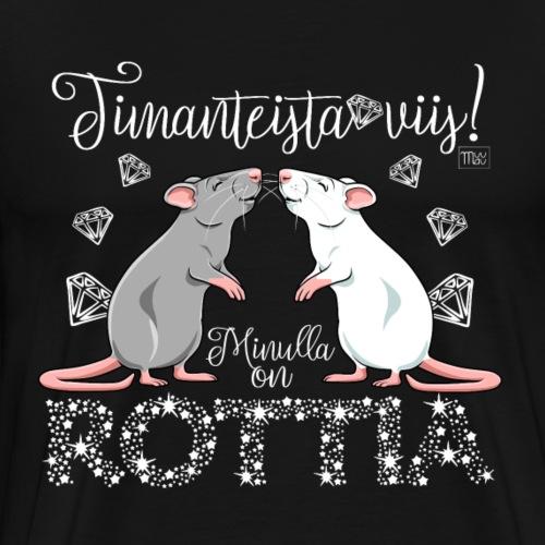 Dimangi Rottia III - Miesten premium t-paita