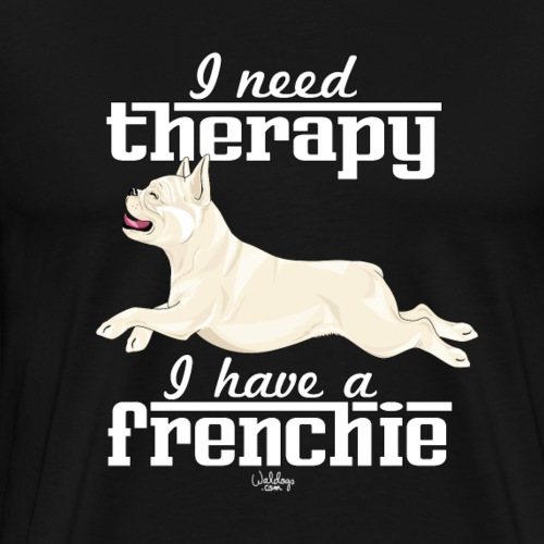 frenchietherapy9 - Men's Premium T-Shirt