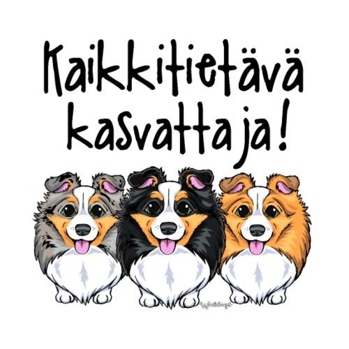 Sheltti Kasvattaja Kaikkitietävä - Miesten premium t-paita