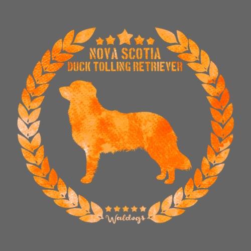 Toller Nova Scotia Army Orange - Miesten premium t-paita