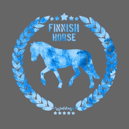 Finnish Horse Army Blue2 - Miesten premium t-paita